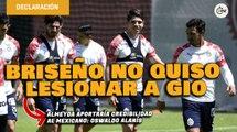 Oswaldo Alanís consideró que el Pollo Briseño no quiso lesionar a Gio | Conferencia