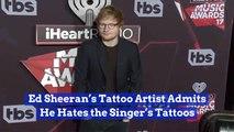 Ed Sheeran's Tattoo Artist