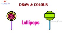 Lollipop Drawing and Colouring for kids  | Lollipops drawing for children | Art Breeze # 30 | Learn Colouring and Drawing for kids |