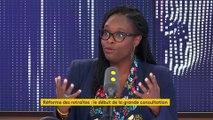 """""""En première lecture juridique"""", le terme de catastrophe technologique """"ne pourrait pas s'appliquer"""", explique Sibeth Ndiaye"""