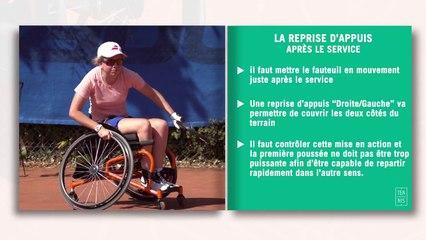 Les fiches techniques du tennis-fauteuil : la reprise d'appui