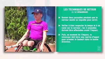 Les fiches techniques du tennis-fauteuil : le retour de service