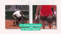 Les fiches techniques du tennis-fauteuil : le choix des pivots