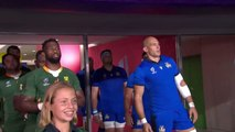 South Africa and Italy walk out