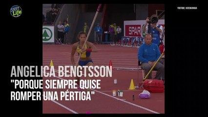 Y tras romper una pértiga... ¡Angelica Bengtsson bate el récord nacional de Suecia!