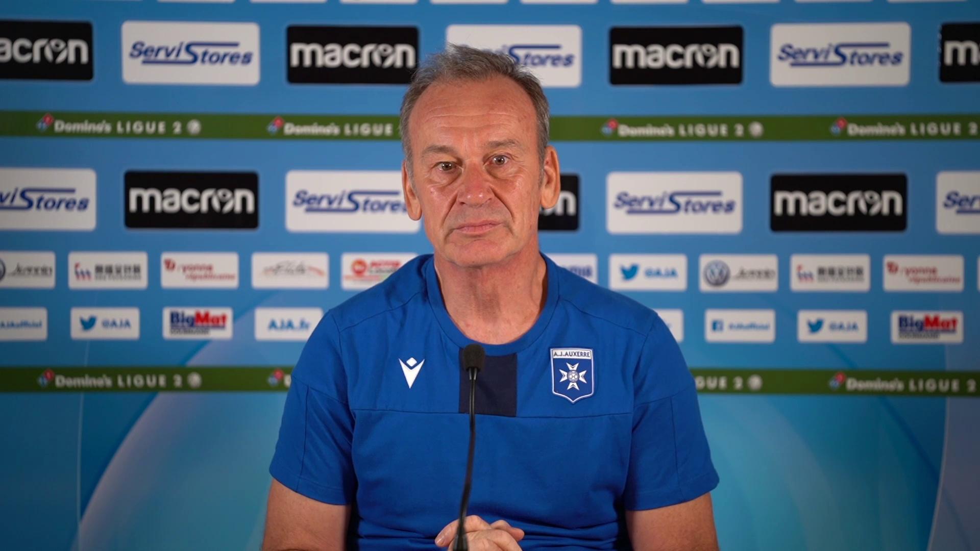 La conférence de presse de Jean-Marc Furlan avant AJA-Le Havre