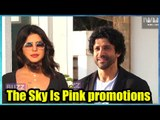 Priyanka Chopra and Farhan Akhtar spotted promoting The Sky Is Pink