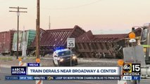 Train derails in Mesa