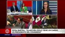 Rosa Bartra afirma ahora que el Congreso fue el primero que pidió adelanto de elecciones