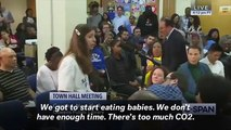 'Eat The Babies!': Woman's Speech At Alexandria Ocasio-Cortez's Town Hall Meeting Goes Viral