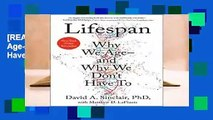 [READ] Lifespan: Why We Age--And Why We Don t Have to