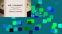 [READ] On Tyranny: Twenty Lessons from the Twentieth Century