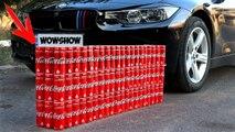 EXPERIMENT - CAR vs 100 Coca Cola Cans