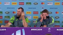 Cheika and Hooper post match press conference at Rugby World Cup 2019