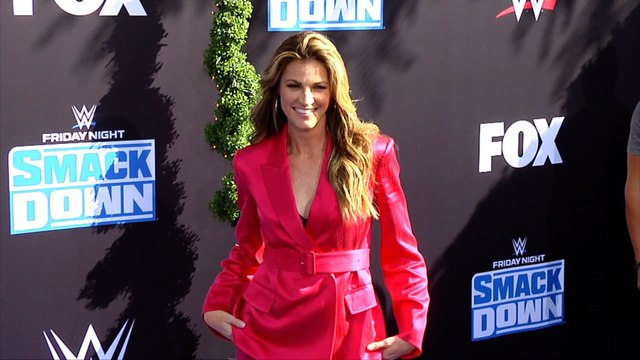 Erin Andrews WWE 20th Anniversary Celebration Event Blue Carpet