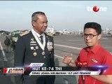 Atraksi Udara Pesawat Tempur di HUT TNI
