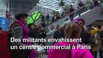 Climat: Extinction Rébellion occupe un centre commercial à Paris