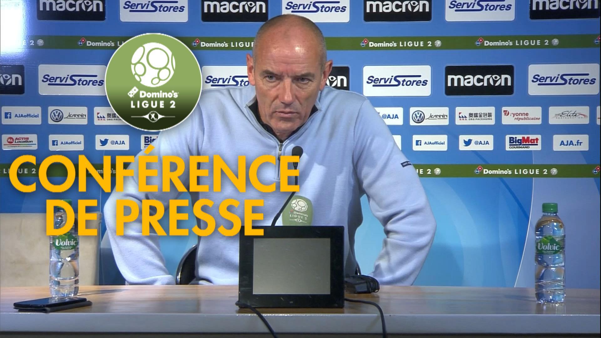Conférence de presse AJ Auxerre - Havre AC (2-0) : Jean-Marc FURLAN (AJA) - Paul LE GUEN (HAC) - 2019/2020