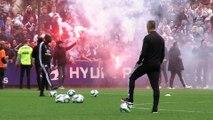 Fumigènes à l'entraînement, Sylvinho survolté face à 2 000 supporters : le derby OL - ASSE est lancé