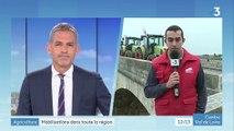 Reportage de France 3 Centre-Val de Loire sur les mobilisations des agriculteurs en région Centre le 8 octobre 2019