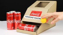 How to make COCA COLA VENDING MACHINE from Cardboard
