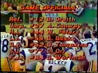 NFL 1978 NFC Championship - Dallas Cowboys @ Los Angeles Rams - full Game part 1