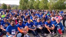 Una marea azul en apoyo al Banco de Alimentos de Valladolid