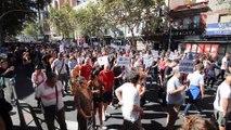 Manifestación contra las casas de apuestas en Madrid