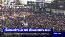 PMA pour toutes: plusieurs milliers de personnes rassemblés à Montparnasse contre le projet de loi