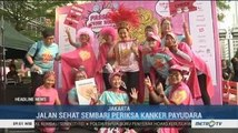 Jalan Sehat Sambil Periksa Kanker Payudara di Bulan Kesadaran Kanker Payudara
