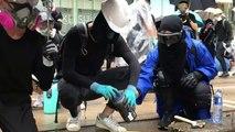 Hong Kong plongé dans un nuage de gaz lacrymogène