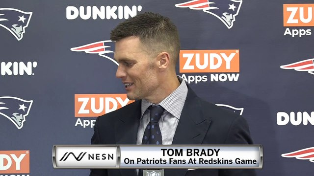 Tom Brady On Patriots Fans At Redskins Game