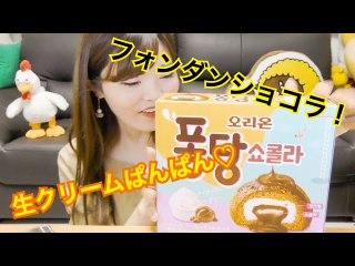 【韓国】フォンダンショコラのお菓子出たから食べてみた。