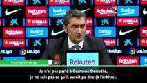 """Valverde : """"Je ne sais pas ce qu'a dit Dembélé à l'arbitre"""""""