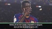 """8e j. - Valverde : """"Je ne sais pas ce qu'a dit Dembélé à l'arbitre"""""""