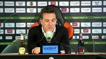 La réaction de Christophe Pelissier après FC Lorient - AC Ajaccio (0-0) 19-20