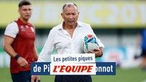 Les piques de Pierre Michel Bonnot avant Angleterre - France - Rugby - Mondial - Bleus