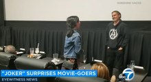 Joker : Joaquin Phoenix surprises fans at Los Angeles movie theater