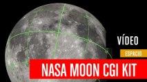 Mapa CGI de la Luna creado por la NASA