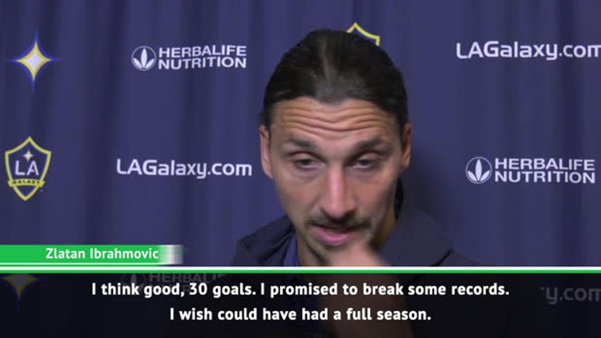 Zlatan promises to break MLS goal-scoring records