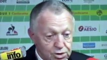 Football - Réaction de Jean-Michel Aulas après la défaite contre l'AS Saint-Étienne