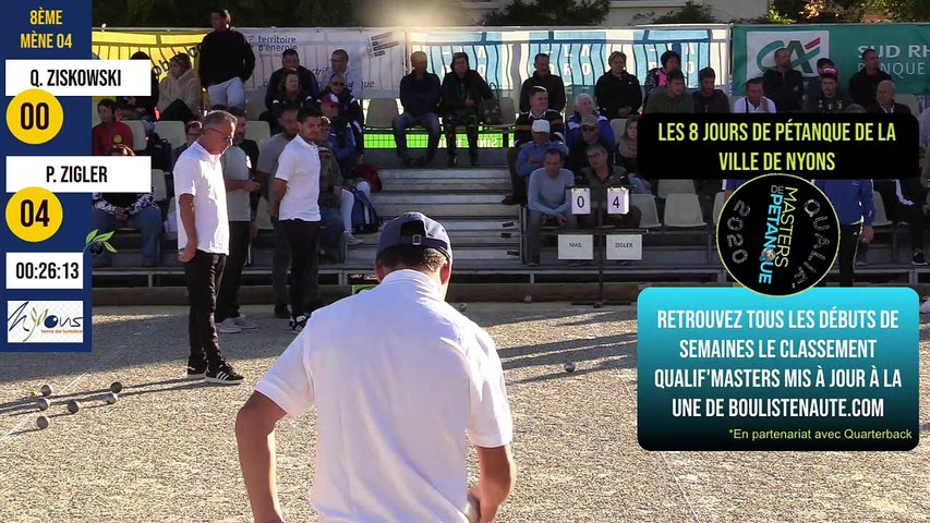 International à pétanque de Nyons : huitième P. ZIGLER vs Q. ZISKOWSKI