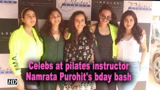 Sonakshi, Sara and Janhvi at pilates instructor Namrata Purohit's bday bash