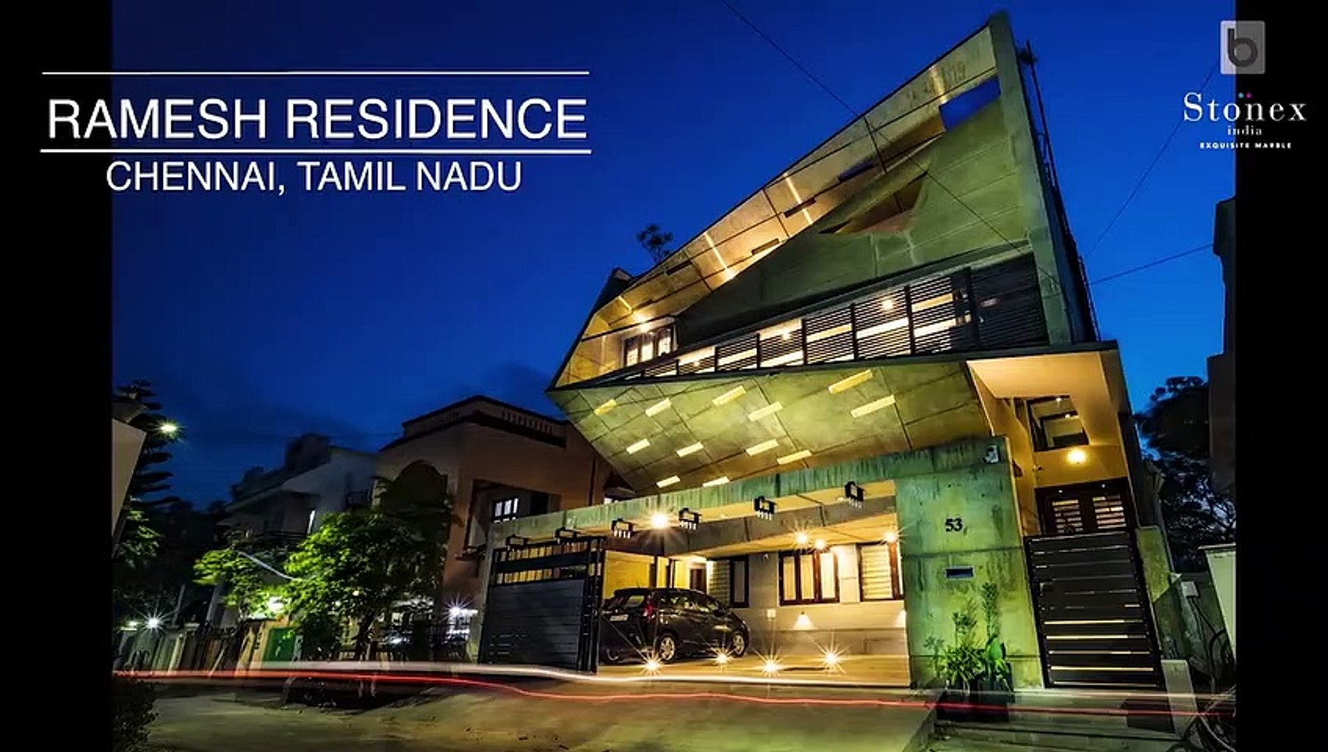 2 600 Sq Ft Ramesh Residence In Chennai By Murali Architects Video Dailymotion