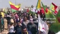 Syrie: manifestation kurde contre les menaces d'offensive turque