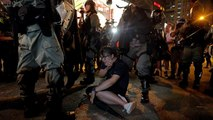 Police clear out protest with tear gas in Hong Kong