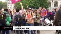 À Londres, Extinction Rebellion tente de bloquer Westminster