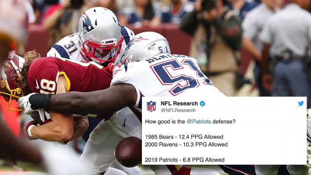 2019 Patriots Among All-Time NFL Great Defenses