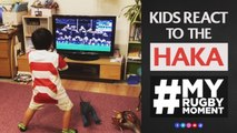 Kids react to All Blacks Haka  MyRugbyMoment