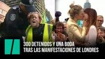 300 detenidos y una boda tras las manifestaciones de Londres